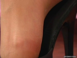A girl in Nude pantyhose (18+)